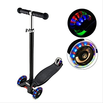 YAYA Negro Colorido Flash Rueda Patinete Skate: Amazon ...