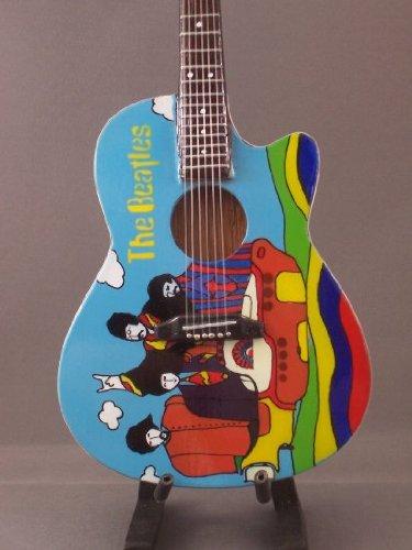 BEATLES YELLOW SUBMARINE Mini Acoustic Guitar STATUETTE Display GIFT