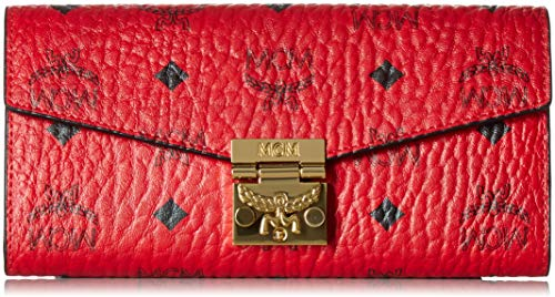MCM Women's Project (RED) Patricia Logo Wallet, Ruby, ONE Size
