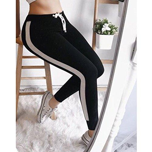 Pantalon Vtements Femme pour Pantalon des avec S Mode Jeggings Survtement de Ray Slim Pantalons Aptitude Fit XL Noir Taille Sports Casual Haute Cordon 7XZan7Tqr
