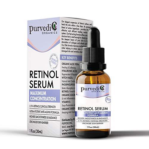 51EquaEtBkL - Retinol Serum With Hyaluronic Acid - Organic 2.5% Anti Aging Face Serum with Vitamin C & Retinol A For Skin Brightening - Ultra Potent Retinol Hyaluronic Acid Serum