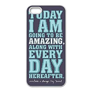 Today is going to be awesome iPhone 4 4s Cell Phone Case White xlb-239293