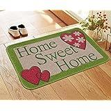 Saral Home Printed Anti Slip Jute Doormat -50x70 cm
