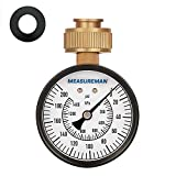 "Measureman 2-1/2"" Water Pressure Test Gauge, 3/4"" Female Hose Thread, 0-200 psi/kpa"