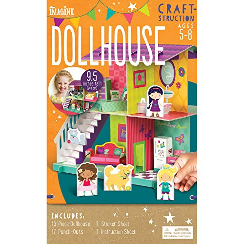 Make Dolls Houses (Imagine by Bendon Craft-Structions Make Your Own Dollhouse Kit (84483))