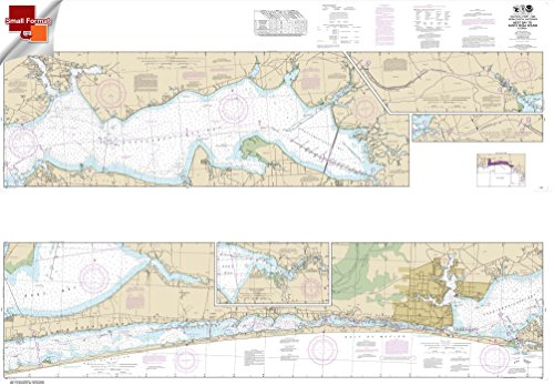 NOAA Chart 11385: Intracoastal Waterway West Bay to Santa Rosa Sound 25 X 36 (SMALL FORMAT WATERPROOF)
