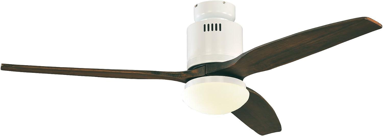 Casafan 93132321 Aerodynamix - Ventilador de techo (ala: 132 cm, con luz integrada, bajo consumo de energía)