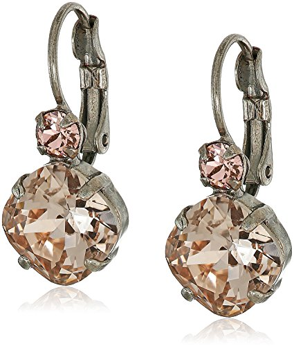 Satin Earring Womens (Sorrelli French Wire Satin Blush Drop Earrings)