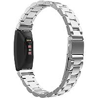 MoKo Armband kompatibelt med Fitbit Inspire/Inspire HR/Inspire 2, rostfritt stål handled rem klockarmband…