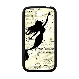 Mermaid Swimming In Music Note Black Samsung Galaxy S4 case