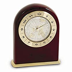 Jewelry Best Seller Rosewood Marco Island Quartz Clock w/World Time Dial Face