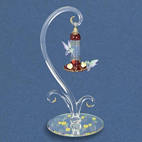 Feeder Gold Hummingbird (Glass Baron Hummingbirds Sweet Feeder Figurine)