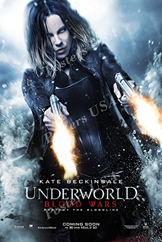 "Posters USA - Underworld Blood Wars Movie Poster GLOSSY FINISH - MOV377 (24"" x 36"" (61cm x 91.5cm))"