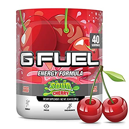 G Fuel Sour Cherry Tub 10.44 oz (40 Servings) Elite Energy and Endurance Formula