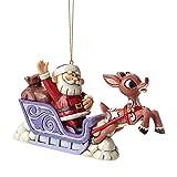 Jim Shore for Enesco Rudolph with Santa Sleigh Ornament, 3