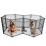 dog modular cage - LEMKA Heavy Duty Pet Playpen Dog Kennels, Pet Dog Exercise Playpen Pet Courtyard Kennel Foldable Steel Crate Wire Metal Cage 10 Panels - 48 inches