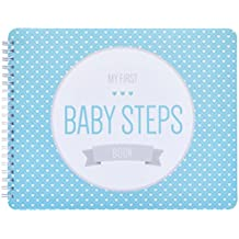 "NEW! Baby First Year Memory Book. Aqua Lagoon ""Modernista""(TM), Poly Cover Hand Made. Memory keeper record book and journal for Boy or Girl. 7.5x9.5"" - Best Shower Gift!"