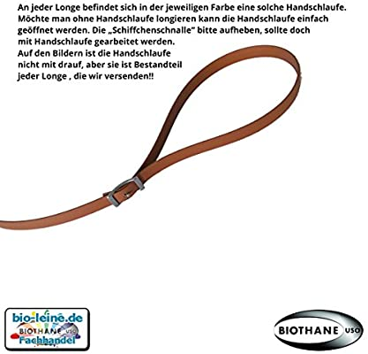 5 bis 10 Meter lang in 25 Farben Longe Longierleine f/ür Pferde 16mm aus Beta BioThane/® Pferdelonge f/ür Reitsport