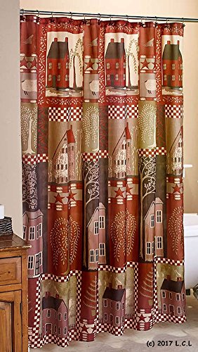 Durable Modeling HOME SWEET Fabric SHOWER CURTAIN Country House Primitive Home Rustic Decor