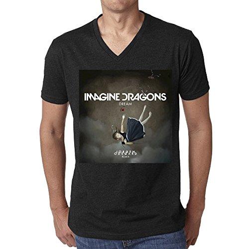Imagine Dragons Dream T Shirt Men V Neck - Hawaii Girls Club Bad