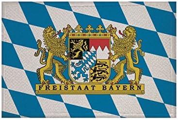 U24 Aufn/äher Bayern mit Wappen Fahne Flagge Aufb/ügler Patch 9 x 6 cm
