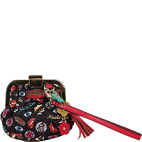 Mini Snap Lock Coin Purse Style Wristlet (Pop Stripe) (Nicole Lee Handbags And Purses)