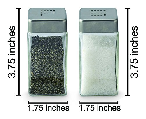 Cuisinox Salt and Pepper Shaker Set, Stainless Steel