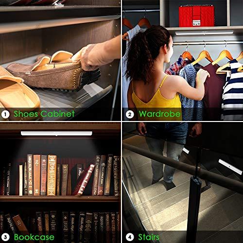 LED Closet Light, Newest Version Rechargeable 62-LED Motion Sensor Closet Light Wireless Under Cabinet Light for Closet, Cabinet, Wardrobe, 2 Sensor Mode (Motion Sensor, Motion & Light Sensor) by LOFTER (Image #5)