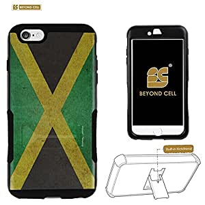 Beyond Cell ?Iphone 6 Plus (5.5)/ Iphone 6+ (T-mobile,AT&T,Verizon,Sprint,International)Shell Case With Premium Protection Durable Hard & Soft (Silicone) Shockproof Hybrid Tough Phone Case With Design - Jamaica Flag Design - Retail Packaging