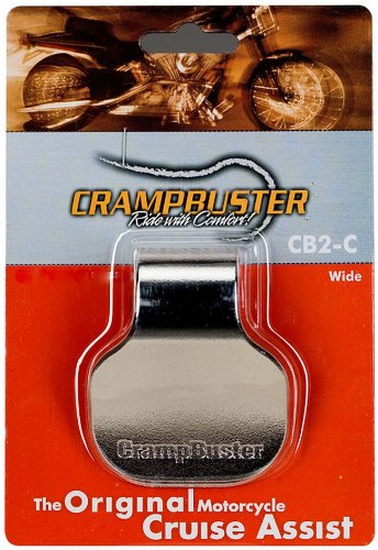 - Crampbuster CB2-C Chrome Throttle Mounted Motorcycle Cruise Assist