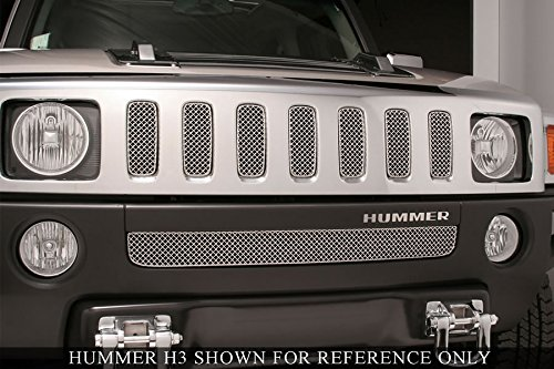 Grillcraft HUM2501SW SW Series Polished Stainless Steel Lower 1pc Woven Mesh Grill Grille Insert for Hummer