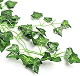 CEWOR 14 Pack 98 Feet Fake Ivy Leaves Artificial