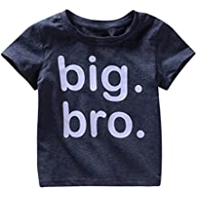 Moonker Baby Tops for 1-5 Years Old,Kids Toddler Baby Boys Letter Print Big Bro 2018 Summer New Soft Cute Tees T-Shirts