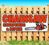 Chainsaw Sharpening & Repair 13 oz Heavy Duty Vinyl Banner Sign...