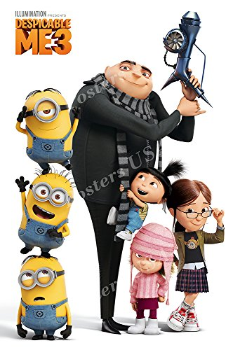 Despicable Me 3 Movie Poster Gru's Crew GLOSSY FINISH