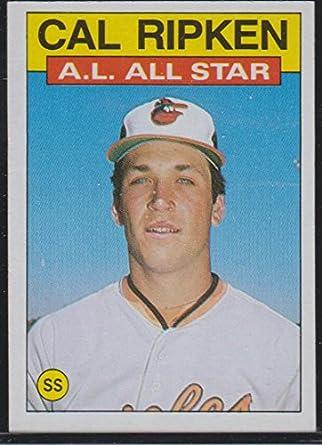 1986 Topps Cal Ripken Jr Orioles All Star Baseball Card