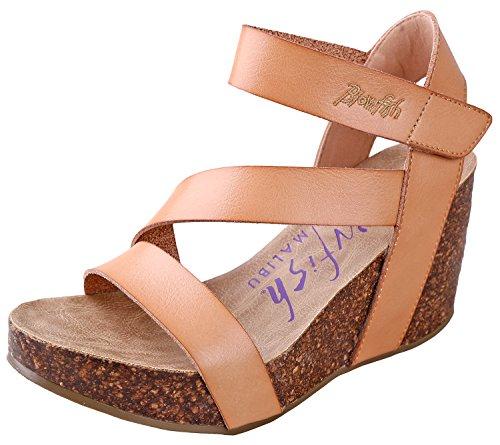 Blowfish Women's Hapuku Wedge Sandal (11 B(M) US, Nude Dyecut PU)