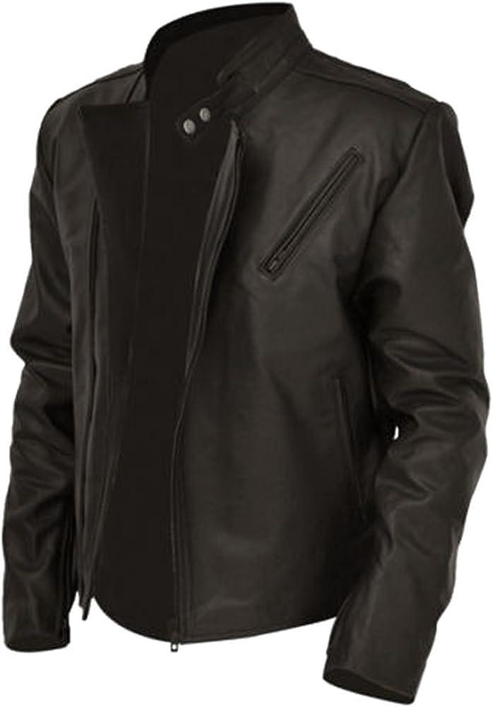 SleekHides Mens Iron Man Tony Real Leather Spark Jacket
