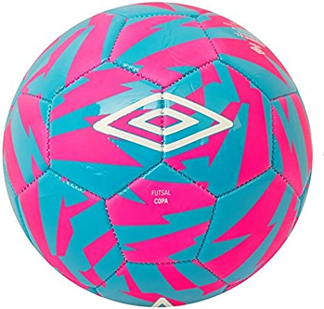 UMBRO Futsal Copa Balón Fútbol, Rosa (Pink GLO) / Azul (Diva Blue ...