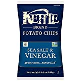 Kettle Brand Potato Chips, Sea Salt and Vinegar, 8.5 Ounce Bags (Pack of 12)
