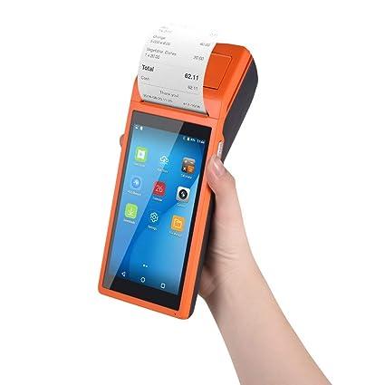 5 INCH Handheld Android POS-Terminal mit 3G WIFI Bluetooth MUNBYN Eingebauter Thermodrucker und 1D Barcode-Leser f/ür Kleinunternehmen Belegdruck NFC Android 6.0