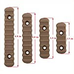 GVN M-Lok Polymer Rail Section 5,7,9,11 Slot Polymer Picatinny/Weaver Rail(4 Pieces Tan)