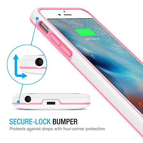 iPhone 6/iPhone 6S Battery Case, Maxboost [VIVID Power] Ultra Slim 3100mAh Battery for iPhone 6/6s (4.7 inch) [MFI Certified] Extended Charging iPhone Portable Charger Case - White/Pink by Maxboost (Image #4)