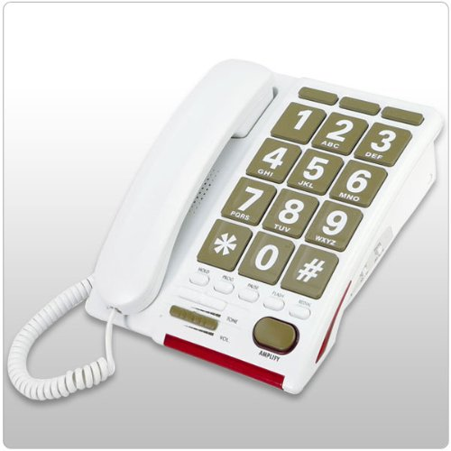 Serene Jumbo Key 55dB Amplified Phone for the Hearing Impaired ()