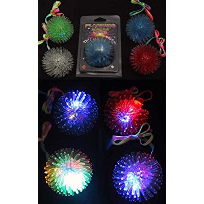 Flashing Panda Urchin Ball Pendant Light-Up Flashing LED Necklace: Health & Personal Care