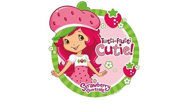 Strawberry Shortcake Edible Cake Topper OR Cupcake Topper Decor