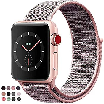 VATI Replacement Band Compatible for Apple Watch Band 38mm 42mm Soft Breathable Nylon Sport Loop Band Adjustable Wrist Strap Replacement Band Compatible for iWatch Series 3/2/1,Sport,Nike+,Edition