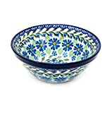 Polish Pottery Handmade 5.5'' Old Kitchen Nesting Bowl 059-Daisy Dance