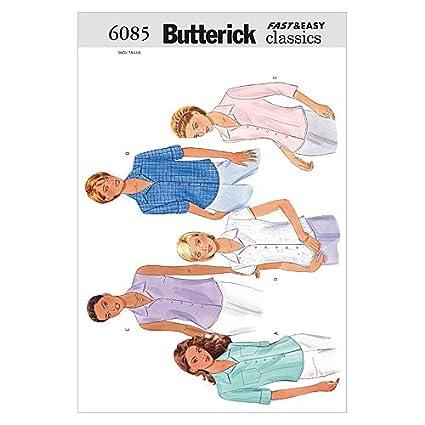 separation shoes 32c09 afeb9 Butterick, Cartamodello da Cucito per Camicia Donna B6085 ...