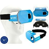 VR-PRIMUS Cardboard - Casque de réalité virtuelle - Pour iOS et Android Smartphones comme l'iPhone, Samsung, HTC, Sony, LG, Huawei, Motorola, ZTE et autres - Compatible avec Google Cardboard Apps - VR Lunettes 3D - Virtual Reality - Forme unique. Carton robuste. Très léger. Pad de nez souple. Bandeau large - Fabriqué en Europe.